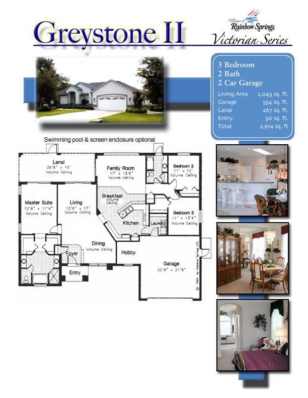 Graystone 2 floor plans and new home photos of model for Floor plans villages florida